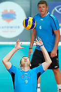 Katowice, Poland - 2017 September 02: Partner Jiri Hlavnicka from SO Czech Republic receives the ball while SO Russia versus SO Czech Republic semifinal match during European Unified Volleyball Tournament 2017 at Spodek Hall on September 02, 2017 in Katowice, Poland.<br /> <br /> Adam Nurkiewicz declares that he has no rights to the image of people at the photographs of his authorship.<br /> <br /> Picture also available in RAW (NEF) or TIFF format on special request.<br /> <br /> Any editorial, commercial or promotional use requires written permission from the author of image.<br /> <br /> Image can be used in the press when the method of use and the signature does not hurt people on the picture.<br /> <br /> Mandatory credit:<br /> Photo by © Adam Nurkiewicz / Mediasport