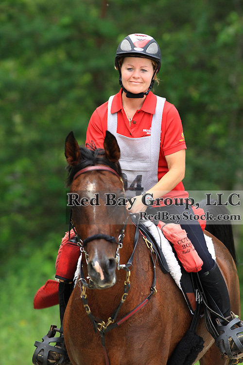 Wendy Benns on Supreme Justice at the FEI Sanctioned Endurance ride at the OCTRA Provincial Championships, New Lowell, Ontario, Canada