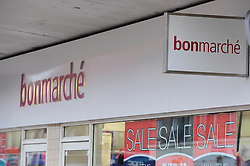 © Licensed to London News Pictures. 23/01/2012. Bonmarche store Orpington High Street  (today  23.01.2012). Bonmarche fashion chain, part of the Peacocks Group has been bought by private equity group Sun European Partners. Photo credit : Grant Falvey/LNP