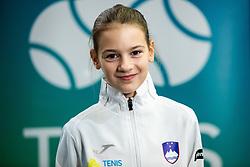 Julija Bogatin during photo session of best U12 Slovenian tennis players, on January 19, 2019 in TK Triglav, Kranj, Slovenia. Photo by Vid Ponikvar / Sportida