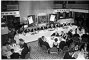 20/08/1962<br /> 08/20/1962<br /> 20 August 1962 <br /> Efficient Distribution Ltd. Dinner at Shelbourne Hotel, Dublin.  Image shows a view of the top table showing (l-r): R.G. Chapman; Gordon Lambert; M.J. Byrne; P. Barrett; R. Thompson; Jack Lynch, Minister for Industry and Commerce; D. Tyndall, Chairman; R. Forsythe; M.J. O'Reilly; H. Johnson; T.A. Corboy; C.A. Morris Cox and john K. Clear, Manager, E.F.D. Ltd.