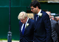 UK ENGLAND LONDON 20JUN16 - Former London mayor Boris Johnson (centre) and other parliamentarians pay their respects to murdered MP Jo Cox outside St. Margret's Church near Parliament Square, Westminster, London.<br /> <br /> jre/Photo by Jiri Rezac<br /> <br /> &copy; Jiri Rezac 2016