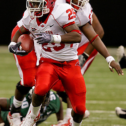 Oct 17, 2009; New Orleans, LA, USA;  Houston Cougars safety Jeremy Smith (25) runs the ball against the Tulane Green Wave during a game at the Louisiana Superdome. Houston defeated Tulane 44-16.   Mandatory Credit: Derick E. Hingle-US PRESSWIRE