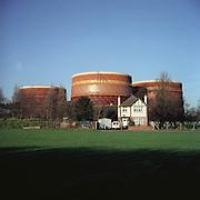 Victorian Gasometer. Romford, Essex.. 12.2003. UK