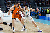 Real Madrid Facundo Campazzo and Valencia Basket Rafa Martinez during Turkish Airlines Euroleague match between Real Madrid and Valencia Basket at Wizink Center in Madrid, Spain. December 19, 2017. (ALTERPHOTOS/Borja B.Hojas)