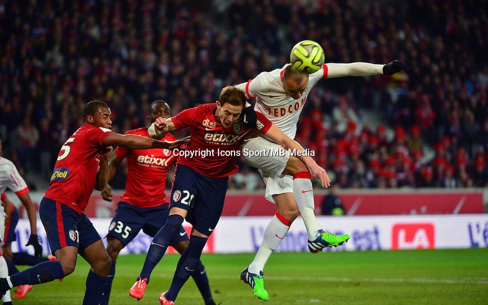 Dimitar BERBATOV / Nolan ROUX - 24.01.2015 - Lille / Monaco - 22eme journee de Ligue1<br />Photo : Dave Winter / Icon Sport