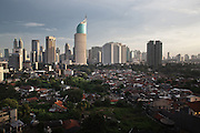 JAKARTA, INDONESIA, MARCH 2013: A view of downtown Jakarta.