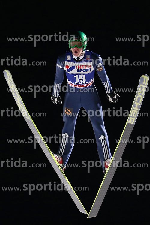 07.12.2013, Lysgardsbakken, Lillehammer, NOR, FIS Weltcup Ski Sprung, Lillehammer, Herren, im Bild Denis Kornilov // Denis Kornilov during the mens competition of FIS Skijumping World Cup at the Lysgardsbakken in Lillehammer, Norway on 2013/12/07. EXPA Pictures &copy; 2014, PhotoCredit: EXPA/ Sammy Minkoff<br /> <br /> *****ATTENTION - OUT of GER*****