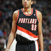 16 March 2012: Portland Trail Blazers small forward Nicolas Batum (88) rests during the Portland Trail Blazers 100-89 victory over the Chicago Bulls at the United Center, Chicago, Illinois, USA.
