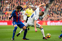 FC Barcelona's Gerard Pique, Real Madrid's Karim Benzema during spanish La Liga match between Futbol Club Barcelona and Real Madrid  at Camp Nou Stadium in Barcelona , Spain. Decembe r03, 2016. (ALTERPHOTOS/Rodrigo Jimenez)