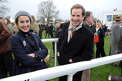 CYNTHIA RAINEY and her brother in law GAWAIN RAINEY at the Hennessy Gold Cup 2009 held at Newbury Racecourse, Berkshire on 28th November 2009.