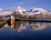 Ben Nevis as seen from the Corpach basin, Lochaber.