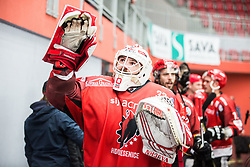 Clark SAUNDERS during  First league between HDD Acroni Jesenice vs HK SZ Olimpia, on April 23, 2019 in Jesenice, Slovenia. Photo by Peter Podobnik / Sportida