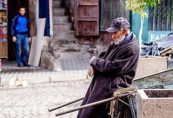 Portrait of an old man in the medina in Marrakech, Morocco, North Africa<br /> <br /> (c) Andrew Wilson | Edinburgh Elite media
