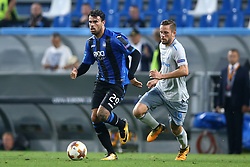 September 14, 2017 - Reggio Emilia, Italy - Andrea Petagna of Atalanta and Gylfi Sigurdsson of Everton during the UEFA Europa League group E match between Atalanta and Everton FC at Stadio Citta del Tricolore on September 14, 2017 in Reggio nell'Emilia, Italy. (Credit Image: © Matteo Ciambelli/NurPhoto via ZUMA Press)