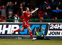 Photo: Richard Lane/Richard Lane Photography. Swindon Town v Norwich City. Coca-Cola Football League One. 20/03/2010. Swindon's Gordon Greer celebrates scoring his late goal.