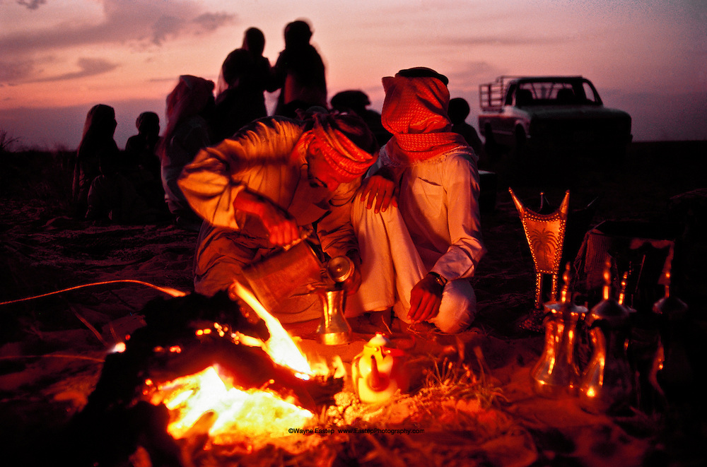 Coffee preparation, Al Amrah Bedouin, Saudi Arabia