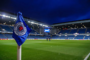 Tonight's match officials inspect the pitch ahead of William Hill Scottish Cup quarter final replay match between Rangers and Aberdeen at Ibrox, Glasgow, Scotland on 12 March 2019.