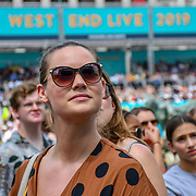 West End Live 2019 in Trafalgar Square, on 22 June 2019, London, UK.