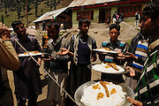 Traditional Muslim wedding in the village of Nara Nagh. Kashmir, India, 2014
