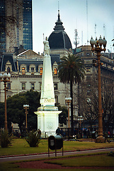BUENOS AIRES, ARGENTINA: Plaza de Mayo in Buenos Aires, Argentina is the city's most significant square from a historical perspective which dates back to the 16th century. Plaza de Mayo is the centre of political affairs within Buenos Aires and the home to a series of buildings each serving as physical reminder of a different era in the city's history..(Photo by Ami Vitale)