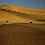 Take a walk through the sea of sand dunes outside of Swakopmund. Namibia boasts the world?s oldest and largest sand dunes, extending for 400 miles along the coast and more than 80 miles inland. July 15, 2008. Photo by Evelyn Hockstein for The New York Times..