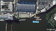 Amazing captures from Google earth<br /> Photo Shows: Big Swimming Pool<br /> 52°29'52.24″N 13°27'13.67″E Berlin, Germany<br /> ©Google Earth/Exclusivepix