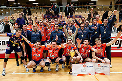 Players of ACH celebrate after the volleyball match between ACH Volley and UKO Kropa at Finals of Slovenian Cup 2010, on December 21, 2010 in Dvorana OS, Nova Gorica, Slovenia. ACH Volley defeated Kropa 3-0 and become Slovenian Cup Champion. (Photo By Vid Ponikvar / Sportida.com)