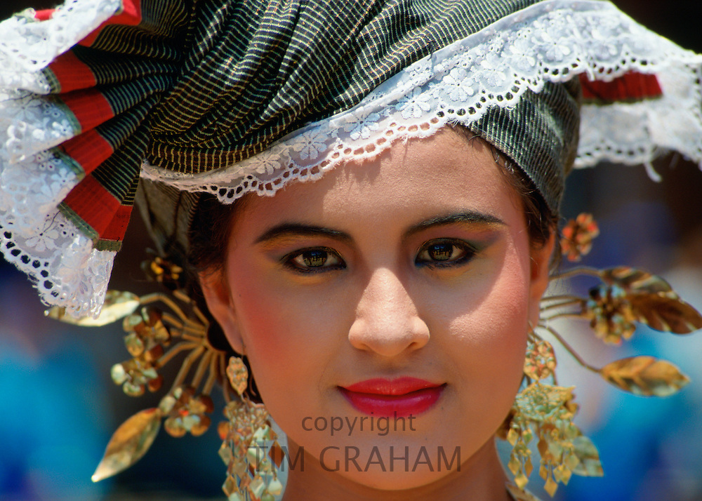 Pretty girl in a Sumatran costume, Indonesia