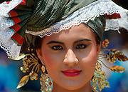 Pretty girl in a Sumatran costume, Indonesia