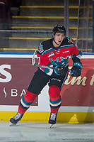 KELOWNA, CANADA - OCTOBER 28: Libor Zabransky #7 of the Kelowna Rockets skates against the Prince George Cougars on October 28, 2017 at Prospera Place in Kelowna, British Columbia, Canada.  (Photo by Marissa Baecker/Shoot the Breeze)  *** Local Caption ***