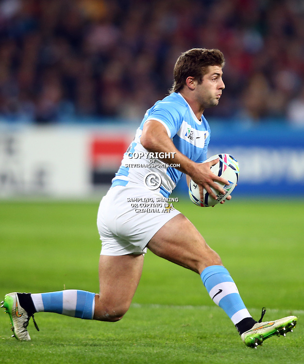 LONDON, ENGLAND - OCTOBER 30: Santiago Cordero of Argentina during the Rugby World Cup 3rd Place Playoff match between South Africa and Argentina at Olympic Stadium on October 30, 2015 in London, England. (Photo by Steve Haag/Gallo Images)