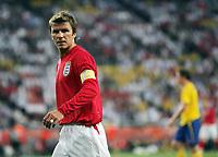 Photo: Chris Ratcliffe.<br /> Sweden v England. FIFA World Cup 2006. 20/06/2006.<br /> David Beckham of England.