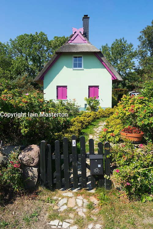 Colourful house in village of Putgarten on Wittow peninsula near Cape Arkona on Rugen Island Germany