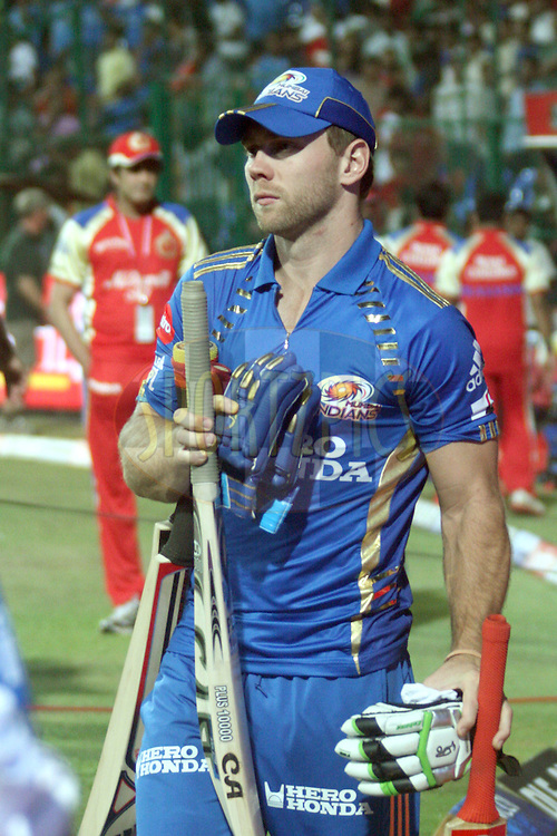 Moises Henriques of Mumbai Indians after the match 8 of the the Indian Premier League ( IPL ) Season 4 between the Royal Challengers Bangalore and the Mumbai Indians held at the Chinnaswamy Stadium, Bangalore, Karnataka, India on the 12th April 2011..Photo by Vino John/BCCI/SPORTZPICS
