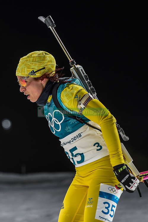 February 12, 2018 - Pyeongchang, Gangwon, South Korea - Elisabeth Hoegberg of Sweden competing at Women's 10km Pursuit, Biathlon, at olympics at Alpensia biathlon stadium, Pyeongchang, South Korea. on February 12, 2018. Ulrik Pedersen/Nurphoto  (Credit Image: © Ulrik Pedersen/NurPhoto via ZUMA Press)