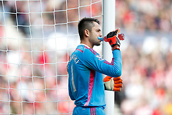 Lukasz Fabianski of Swansea City takes a drink - Photo mandatory by-line: Rogan Thomson/JMP - 07966 386802 - 27/08/2014 - SPORT - FOOTBALL - Sunderland, England - Stadium of Light - Sunderland v Swansea City - Barclays Premier League.