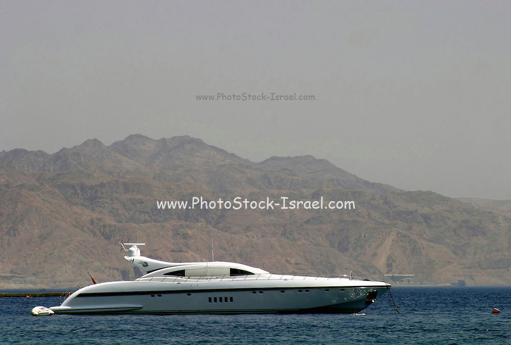Sophisticated modern speed yacht, Eilat, Israel