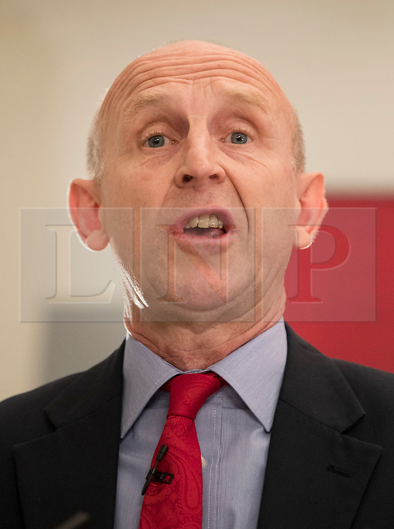 © Licensed to London News Pictures. 19/04/2018. London, UK. John Healey MP, Shadow Housing Secretary speaks on housing policy in Westminster. Photo credit: Peter Macdiarmid/LNP