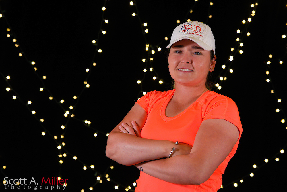 Paola Pavon during a portrait session prior to the Symetra Tour's Guardian Retirement Championship  on April 19, 2016 in Sarasota, Florida.<br /> <br /> &copy;2016 Scott A. Miller