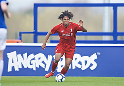 LIVERPOOL, ENGLAND - Saturday, March 30, 2019: Liverpool's Yasser Larouci during the FA Premier League Academy match between Everton FC and Liverpool FC, the Mini-Mini Merseyside Derby, at Finch Farm. (Pic by David Rawcliffe/Propaganda)