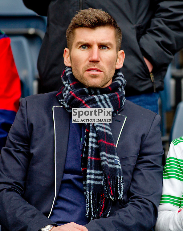 Dundee Utd v Celtic QTS Scottish League Cup Final Hampden Park 15 March 2015<br /> Mark Burchill takes in the game<br /> CRAIG BROWN | sportPix.org.uk