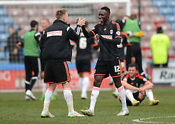 Fulham's Seko Fofana celebrates at the end of the match - Photo mandatory by-line: Richard Martin-Roberts/JMP - Mobile: 07966 386802 - 21/03/2015 - SPORT - Football - Huddersfield - John Smith's Stadium - Huddersfield Town v Fulham - Sky Bet Championship