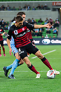 MELBOURNE, AUSTRALIA - SEPTEMBER 18: Mathieu Cordier (14) of the Wanderers defends the ball during the FFA Cup Quarter Finals match between Melbourne City FC and Western Sydney Wanderers FC at AAMI Park on September 18, 2019 in Melbourne, Australia. (Photo by Speed Media/Icon Sportswire)