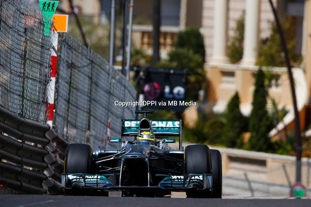 MOTORSPORT - F1 2013 - GRAND PRIX OF MONACO / GRAND PRIX DE MONACO - MONTE CARLO (MON) - 23 TO 26/05/2013 - PHOTO JEAN MICHEL LE MEUR / DPPI - ROSBERG NICO (GER) - MERCEDES GP MGP W04 - ACTION
