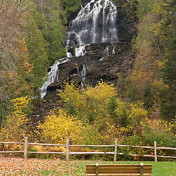 Beaver Brook Falls in Colebrook, New Hampshire.  Fall.
