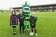 Matchday mascots during the EFL Sky Bet League 2 match between Forest Green Rovers and Crawley Town at the New Lawn, Forest Green, United Kingdom on 22 September 2018.