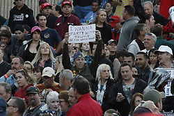 Trump supporter at Donald Trump for President rally in Costa Mesa, CA at the OC Fair & Event Center - The Pacific Amphitheater. Thursday, April 28, 2016