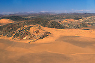 aerial view near Serra Cafema Camp, Wilderness Safaris, Kaokoland, Kunene Region, Namibia