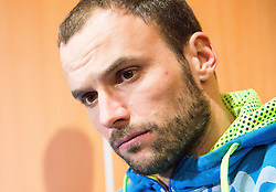 Uros Zorman of Slovenia  during press conference of Slovenian team before departure on Day 7 of Men's EHF EURO 2016, on January 21, 2016 in Mercure Hotel Wroclaw, Poland. Photo by Vid Ponikvar / Sportida